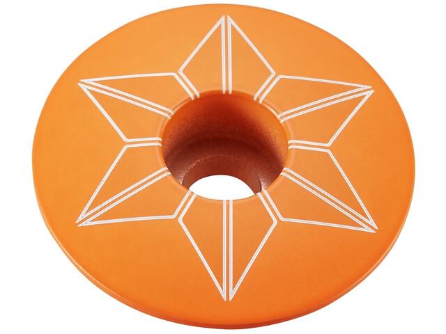 Supacaz Star Capz Ahead Kap gepoedercoat, neon orange